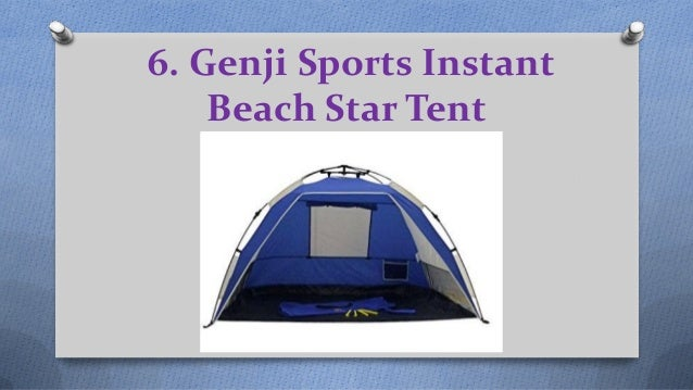 Genji Sports Instant Beach Star Tent ...  sc 1 st  SlideShare & Top 10 best beach tents in 2017