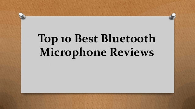 Top 10 Best Bluetooth Microphone Reviews