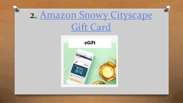 amazon snowy cityscape gift card