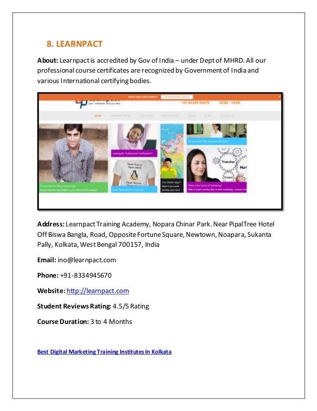 Top 10 best digital marketing training institutes in kolkata
