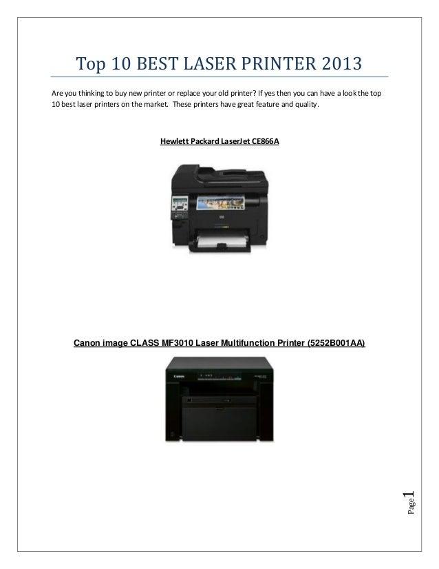 Top 10 best laser printer 2013