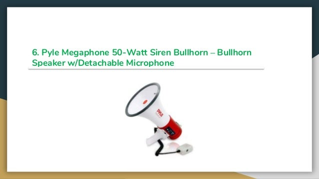 Lot of 5Pyle Megaphone PA Bullhorn with Built-in Siren Adj Volume Control