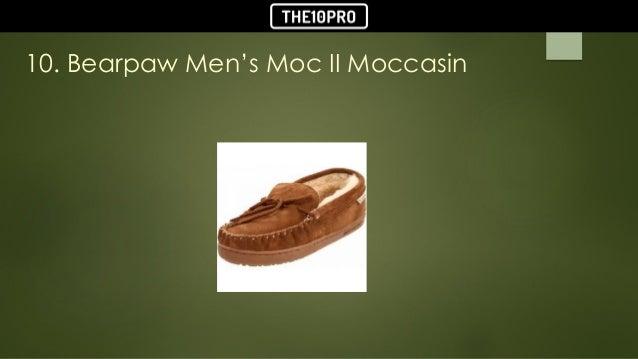 fa84bd3f5c81 TOP 10 BEST MEN S SLIPPERS REVIEWS IN 2018  2. 10. Bearpaw Men s Moc II  Moccasin ...