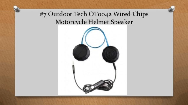 794448705d0 #7 Outdoor Tech OT0042 Wired Chips Motorcycle Helmet Speaker ...