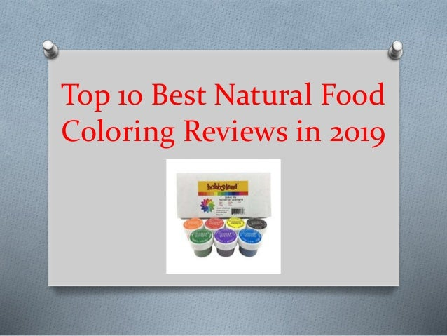 Top 10 best natural food coloring reviews in 2019