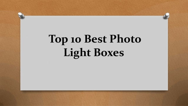 Top 10 Best Photo Light Boxes