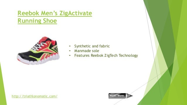 Reebok Men's ZigActivate Running Shoe  • Synthetic and fabric • Manmade sole • Features Reebok ZigTech Technology  http://...