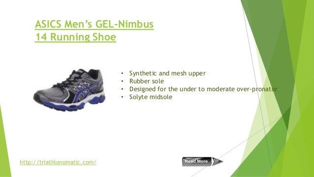 ASICS Men's GEL-Nimbus 14 Running Shoe  • • • •  http://triathlonomatic.com/  Synthetic and mesh upper Rubber sole Designe...