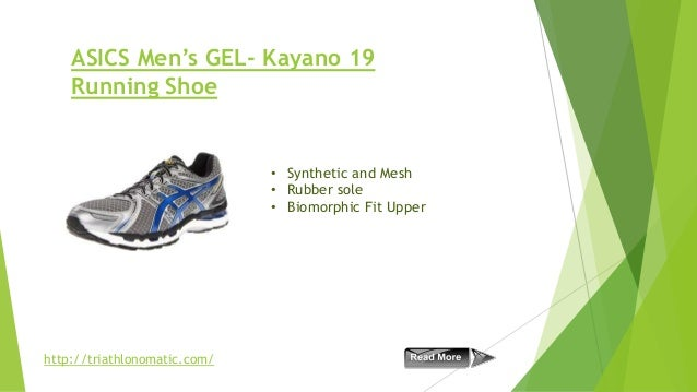 ASICS Men's GEL- Kayano 19 Running Shoe  • Synthetic and Mesh • Rubber sole • Biomorphic Fit Upper  http://triathlonomatic...