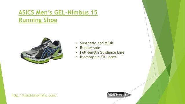 ASICS Men's GEL-Nimbus 15 Running Shoe  • • • •  http://triathlonomatic.com/  Synthetic and MEsh Rubber sole Full-length G...
