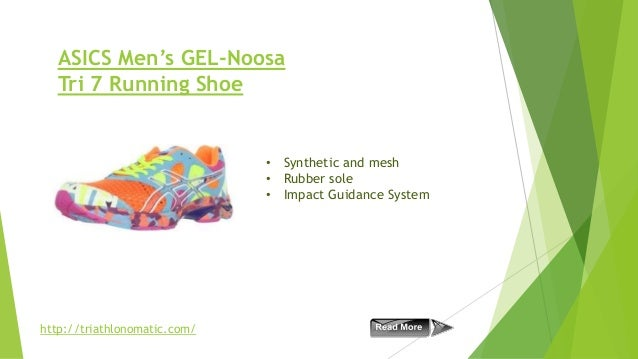 ASICS Men's GEL-Noosa Tri 7 Running Shoe  • Synthetic and mesh • Rubber sole • Impact Guidance System  http://triathlonoma...
