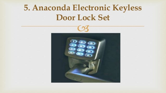 anaconda electronic keyless door lock set