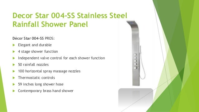 Top 10 best shower panels to watch for for Decor star 004 ss