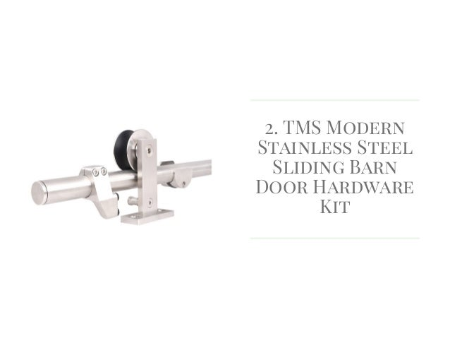 TMS Modern Stainless Steel Sliding Barn Door Hardware Kit ...