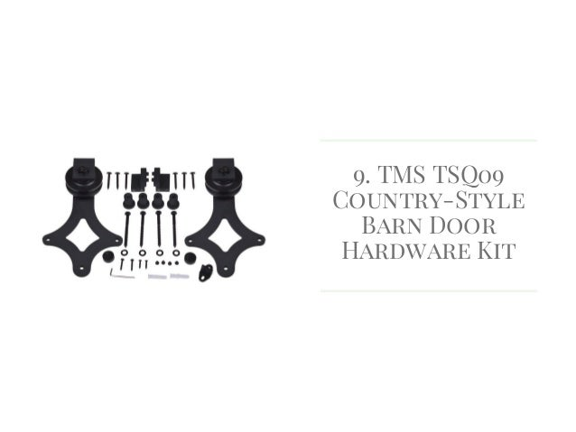 TMS TSQ09 Country Style Barn Door Hardware Kit ...