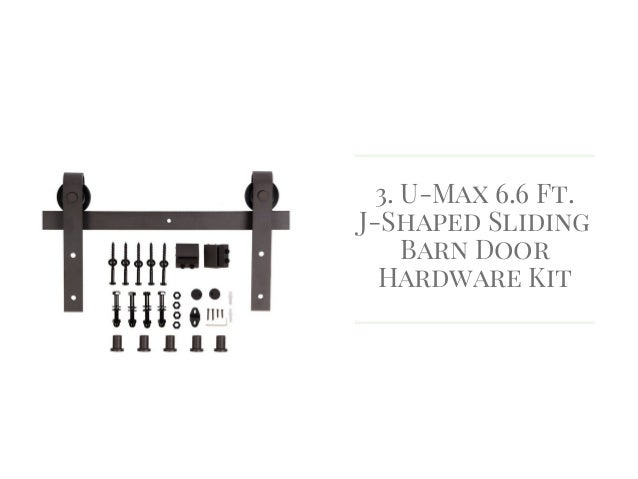 U Max 6.6 Ft. J Shaped Sliding Barn Door Hardware Kit ...