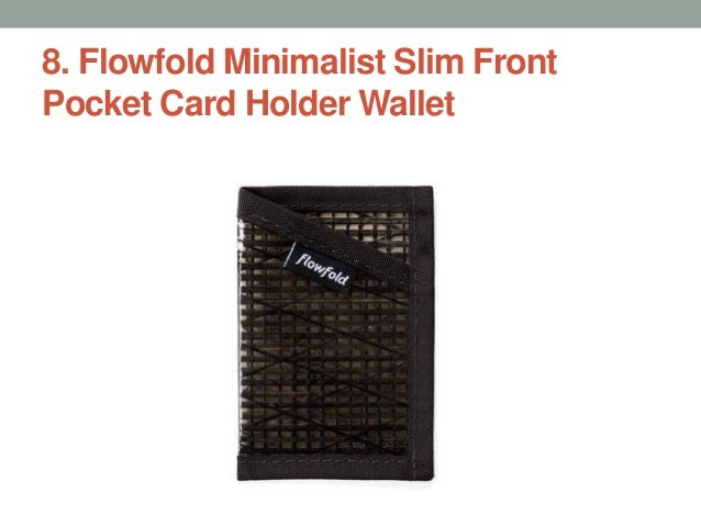 74b5f308ac63 Flowfold Minimalist Slim Front Pocket Card Holder Wallet ...