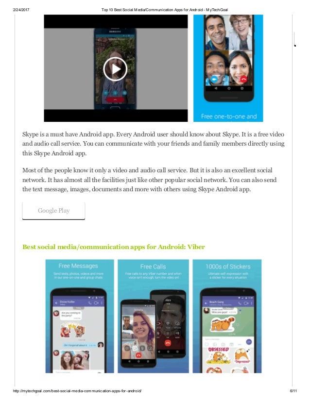 Top-Social-Media-Apps für Android