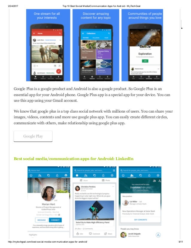 Best social apps android
