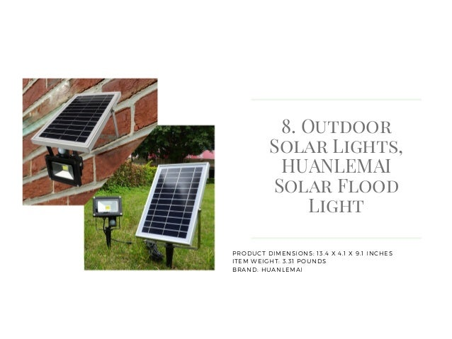 Top 10 Best Solar Flood Lights Reviews in 2017