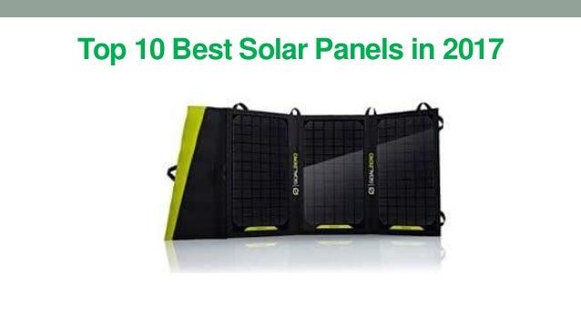 Top 10 Best Solar Panels in 2017