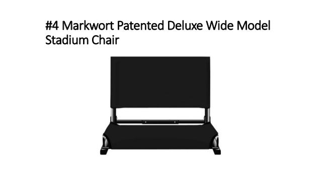 #4 Markwort Patented Deluxe Wide Model Stadium Chair ...  sc 1 st  SlideShare & Top 10 best stadium seats