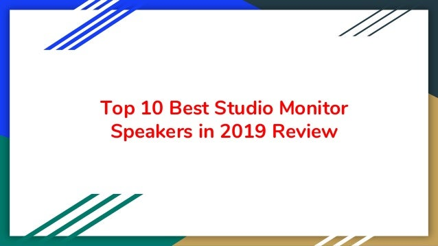 Top 10 Best Studio Monitor Speakers in 2019 Review