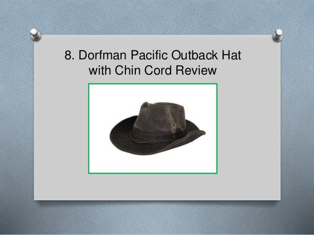 Dorfman Pacific Outback Hat with Chin Cord Review ... 4fb444bb0b0b