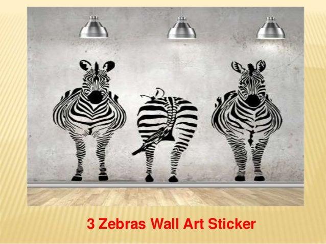 3 Zebras Wall Art Sticker ... Part 81