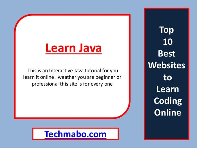 Interactively learn java