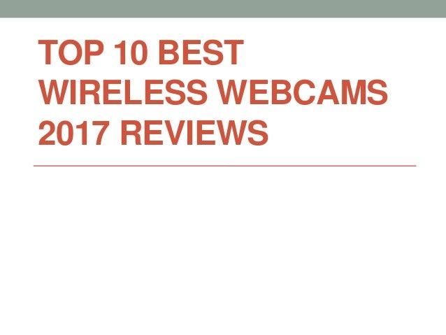 TOP 10 BEST WIRELESS WEBCAMS 2017 REVIEWS