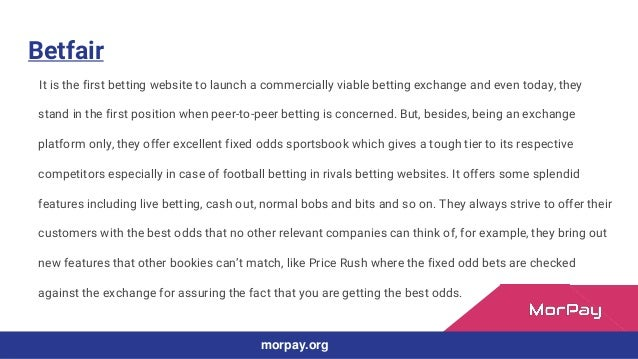 Top 10 betting websites by Morpay