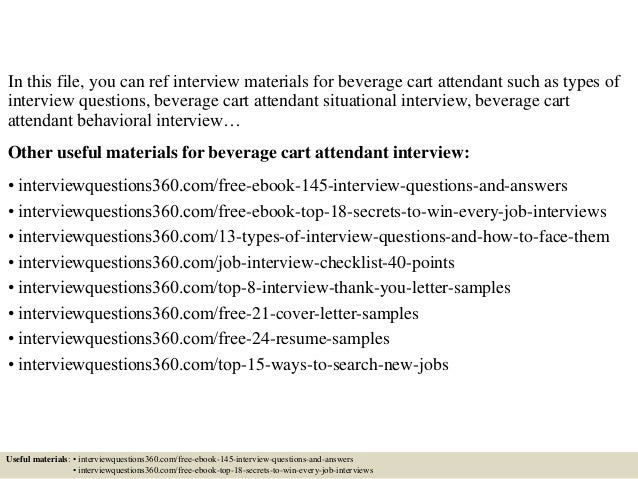 Top 10 beverage cart attendant interview questions and answers