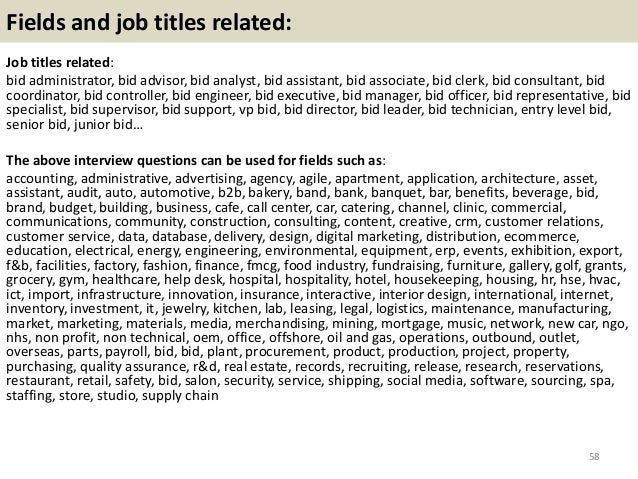 top 36 bid interview questions with answers pdf