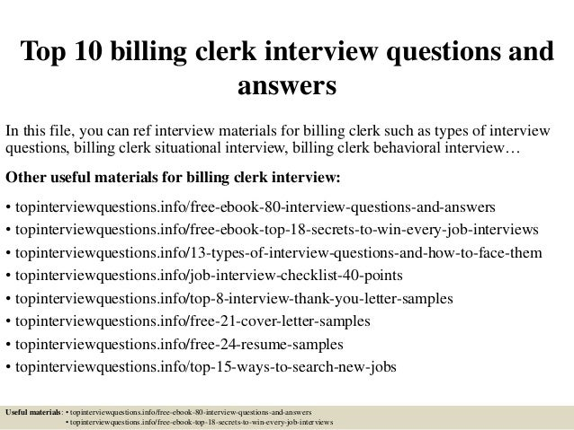 billing clerk job description