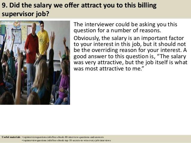 billing supervisor job description
