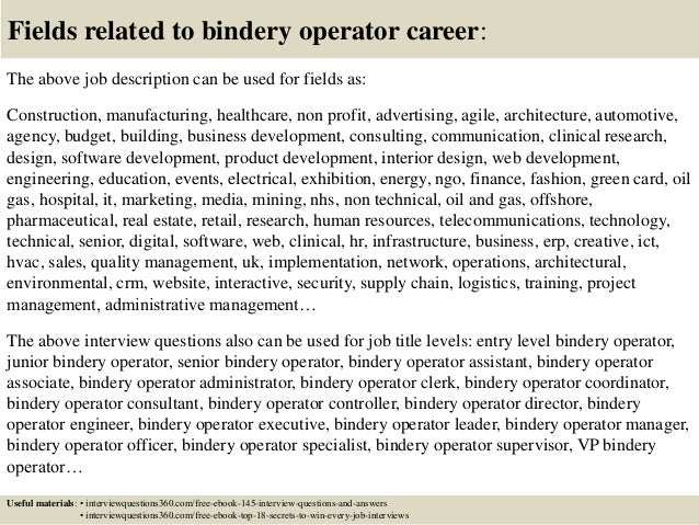 ... 18. Fields Related To Bindery ...