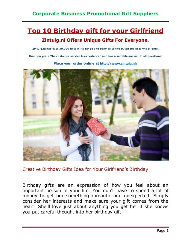 Top 10 Birthday Gifts Girlfriend