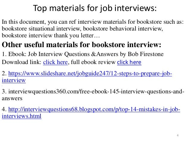 Top 36 bookstore interview questions with answers pdf top materials fandeluxe Gallery
