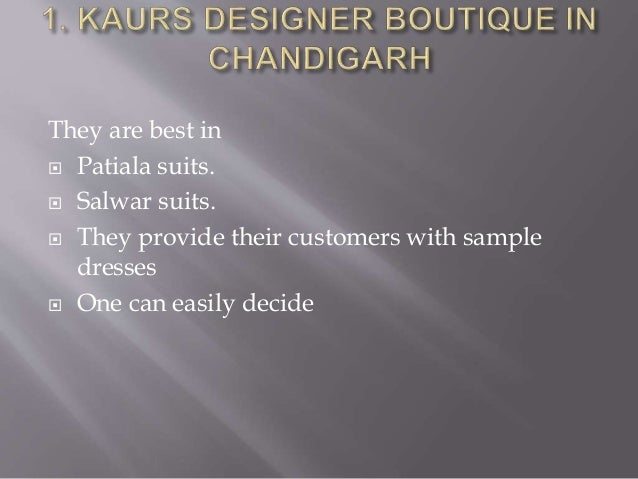 Top 10 Boutiques in Chandigarh