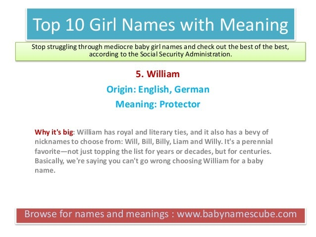 Top 10 Boy Names With Meaning