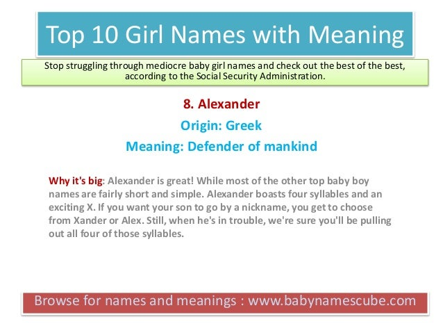 Top 10 Boy Names with Meaning - BabyNamesCube