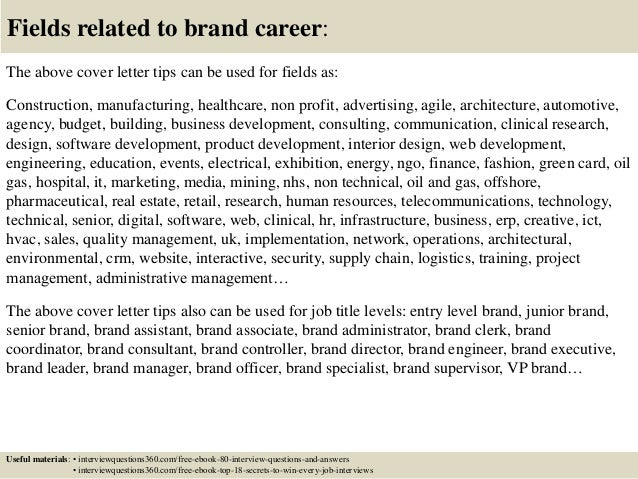 Superior ... 16. Fields Related To Brand Career: The Above Cover Letter ...