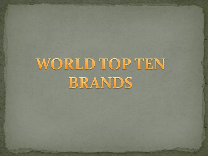 We can categorize the world top 10 brands byconsidering different aspects like revenue ,popularityetc.,I consider the reve...