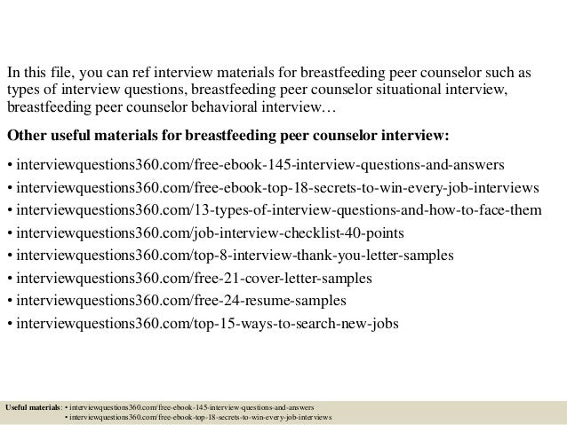 Top 10 Breastfeeding Peer Counselor Interview Questions And Answers