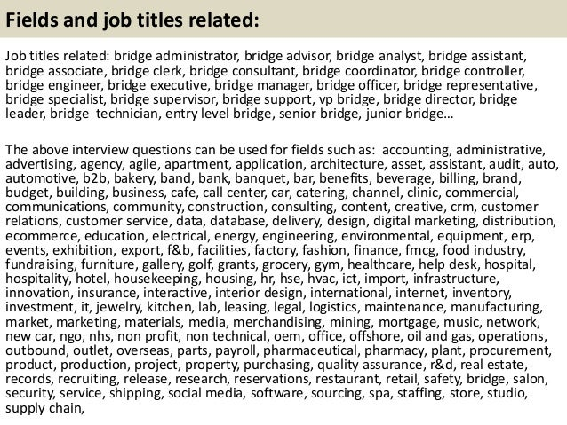 top 10 bridge interview questions with answers