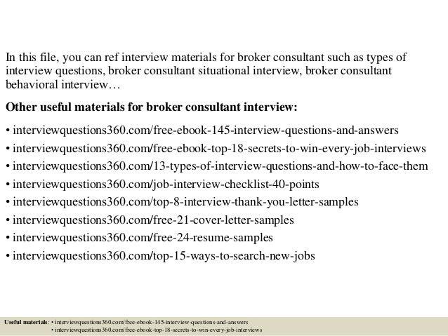 Broker Consultant Sample Resume » Sample Cover Letter For Bank ...