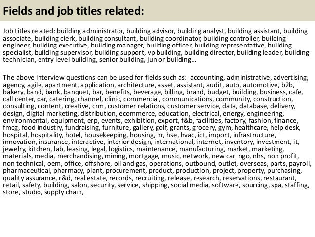 Top  Building Interview Questions With Answers