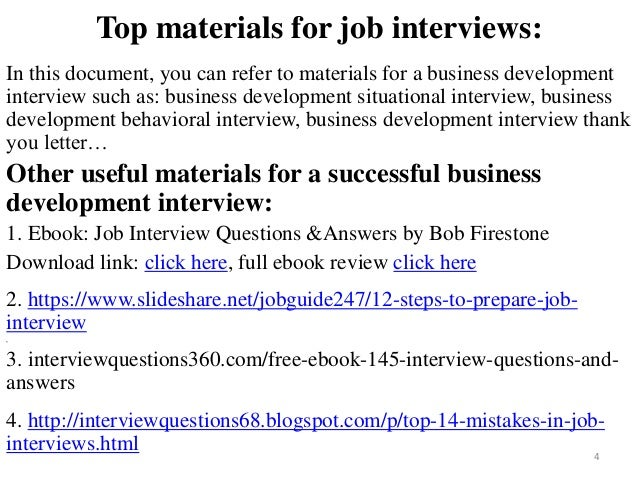 94 business development interview questions and answers