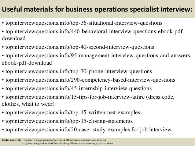 business operations specialist